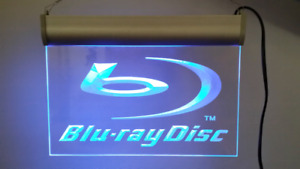 Lighted Blu-ray Sign