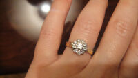 Bague aux diamants or 18k /Ring with diamonds 18k gold
