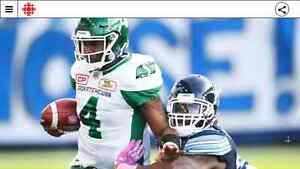 3 Saskatchewan Roughriders tickets Riders for Saturday Montreal