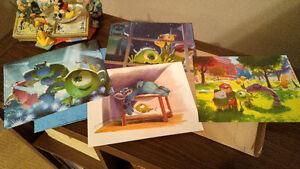 Disney Lithograph Set - Monsters University (MINT)
