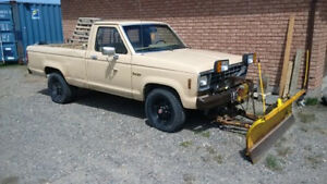 1984 FORD RANGER 4x4 with MEYERS PLOW