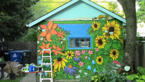 Spruce up your Backyard with a Original Garden Mural this Summer