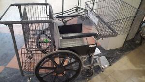 Care Chair Wheelchair /w shopping baskets.