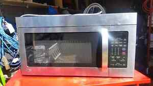 Lg stainless steel microwave - for spares or repair.