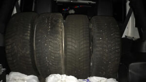 Lightly used winter tires WITH RIMS!