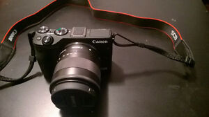 canon EOS M3 with 18-55 and adapter