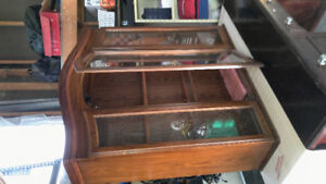 Gorgeous glass inlay hutch for sale!
