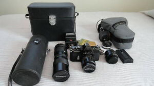 PENTAX CAMERA......COMPLETE OUTFIT....WELL CARED FOR