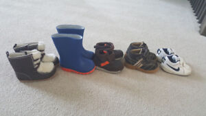 Baby boy shoes and boots size 5/6