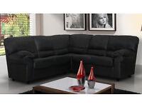 SALE** Candy chocolate brown, black, cream or red 2+3 seater sofa set OR corner sofa