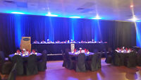 Pipe & Drape with Up Lighting (Rentals)