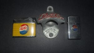 3 VINTAGE PEPSI  COLLECTABLES SIGNS