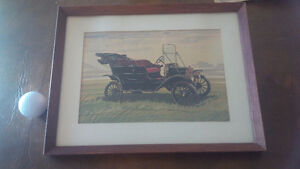 Vintage Framed Print - Old Car