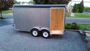 INTERSTATE 7 x 14  Enclosed Trailer 7x14x6ft6in inside
