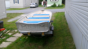 12' aluminum boat and motor