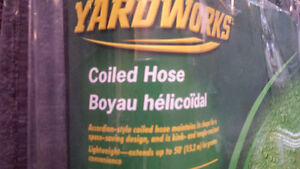 Brand New Never Opened Yardworks 50' Coiled Hose For Sale!