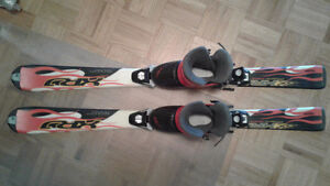 Ski and boots for kids 5-7 y set