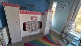 Kids Castle Singles Bunk Bed