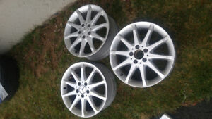 Mercedes OEM 10 spoke rims (3) rare