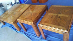 Solid Oak tables- set of 3