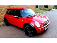 RED MINI COOPER ONE 1.6 MANUAL BLACK ALLOYS SERVICE HISTORY LOOKS STUNNING PX