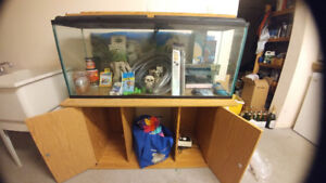 40 Gallon Aquarium with Stand and Accessories