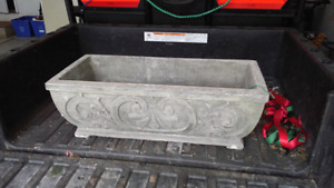 Concrete Flower Box x3