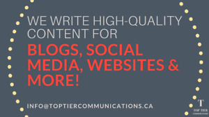 AFFORDABLE WRITING + CONTENT MARKETING SERVICES!