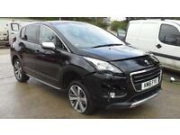 Peugeot 3008 Crossover 1.6BlueHDi 2016 Allure DAMAGED SPARES OR REPAIR SALVAGE