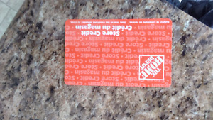 MUST SELL HOME DEPOT CARD