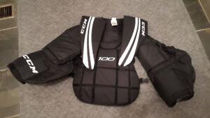 Plastron de gardien CCM pour hockey de rue ou hockey cosom