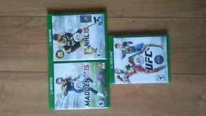 XBOX ONE GAMES budle EA sports 30$ obo