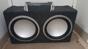 """2×12"""" Subs and Amp Prince George British Columbia image 1"""