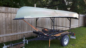 Canoe and Trailer with Racks Stratford Kitchener Area image 1