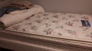 Single Mattress, box spring and bedding