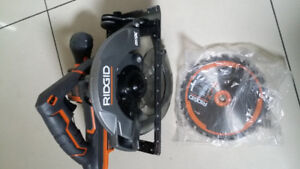 brand new never use RIDGID X5 circle saw. bare tool only.