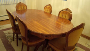 Beautiful Dining Set- Buffet, Table and 6 Chairs