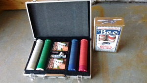 Poker chip set. 2 full sets brand new