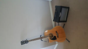 Ibanez left handed acoustic electric guitar for sale.