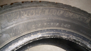 Firestone winter force tires 215/60/15