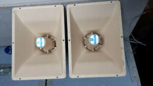 electro voice (EV) pa-430t weather proof pa speakers in pairs