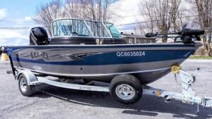 2018  LUND IMPACT  1875  with 150 Mercury 4 stroke and 15 HP Pro