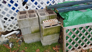 Concrete Blocks - 10 Inch Standard and Various Sizes - Grey