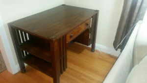 Mission Style Antique Library Desk