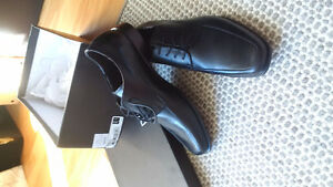 Men's Pegabo black shoes, size 7 - brand new, in box