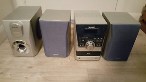 Sharp Stereo with 5 CD changer