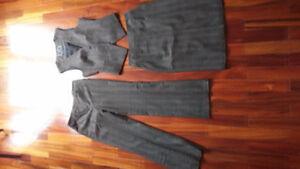 skirt slacks and vest set - business wear, suit set