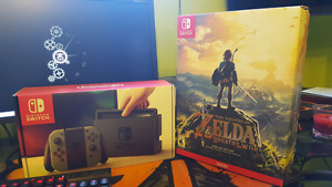 Nintendo Switch console and Breath of the Wild SE