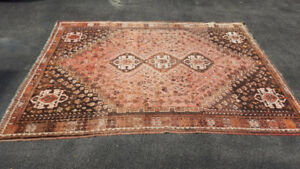 Hand-Made Wool Persian Carpet (9ft 11in by 7ft 4in)