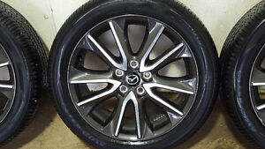 Mazda Factory cx3 GT 18 inch gun metal alloy rims with tires